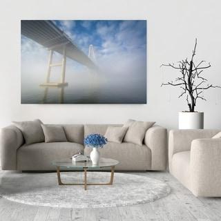Noir Gallery Charleston, South Carolina Bridge in Fog Fine Art Photo Print