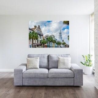 Noir Gallery Charleston, South Carolina Palm Trees and Architecture Fine Art Photo Print