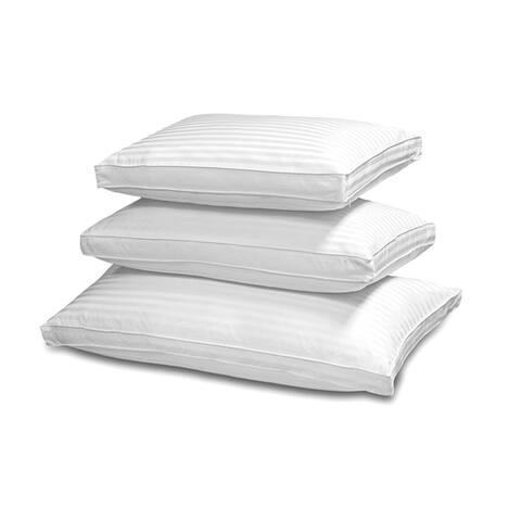 Hotel Grand 500 Thread Count Silk/Cotton Damask Down Pillow - White