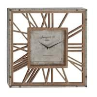 Havenside Home Buckroe 22-inch Metal Wood Wall Clock