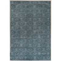 Evolution Collection Damask Blue Rug (8' x 10')