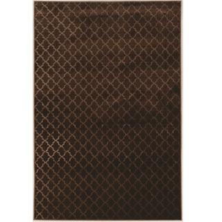 Evolution Collection Trellis Brown Rug (8' x 10')
