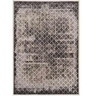 Evolution Collection Trellis Distressed Vintage Grey Rug (8' x 10')