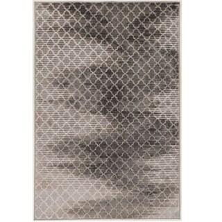 Evolution Collection Trellis Zig Zag Grey Rug (8' x 10')