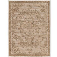 Hand Tufted Antique Vintage Collection Clara Beige and Gold Rug (8' x 10')