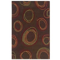Hand Tufted Trio Collection Cylindrical Brown & Rust Rug - 8' x 10'