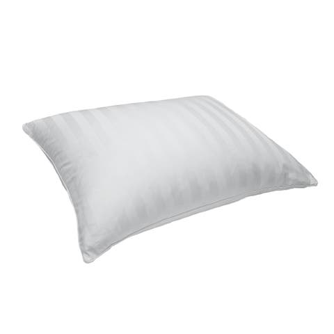 233 Thread Count Cotton Damask Feather Blend Pillow - White