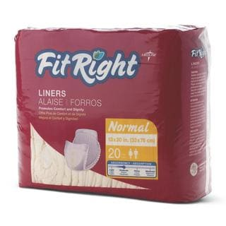 FitRight 13 x 30-inch Normal Liners (Pack of 80)