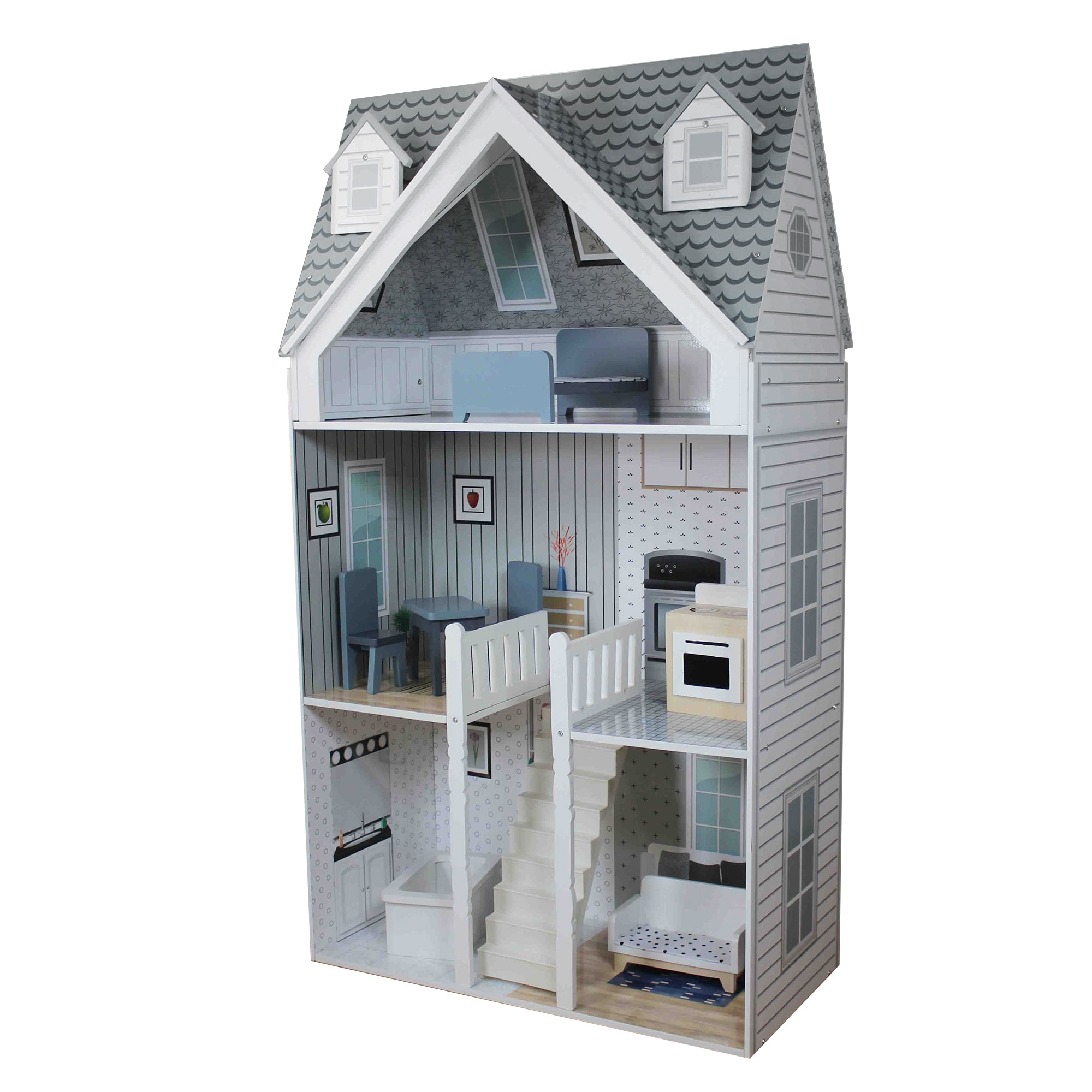 Teamson Kids Deluxe City Doll House for 11.5 Inch Dolls (...