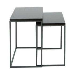 Benzara Grey Metal and Wood 22-inch and 25-inch Nesting Table (Set of 2) (As Is Item)|https://ak1.ostkcdn.com/images/products/17291504/P91024002.jpg?impolicy=medium