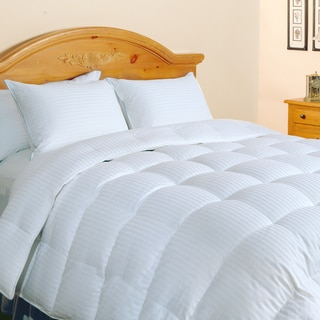 Hotel Grand Oversized 500 Thread Count Silk / Cotton White Down Comforter