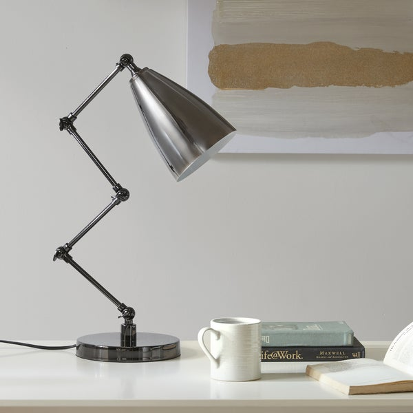 Urban Habitat Bryce Black Table Task Lamp