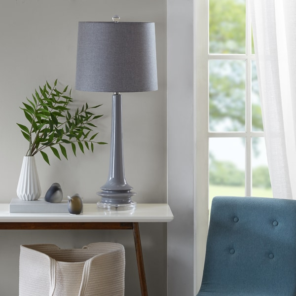 Urban Habitat Harmony Grey Table Lamp