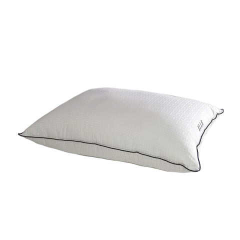 Elle 500 Thread Count Damask Down Alternative Pillow (Set of 2) - White