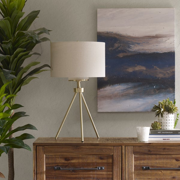 INK+IVY Pacific Tripod Gold Table Lamp