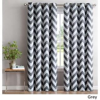 ME Chevron Print Blackout Grommet Curtain Panel Pair