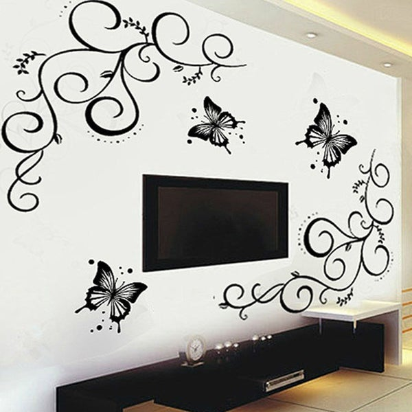 Butterfly vine flower wall decal butterfly vine flower wall decal mightylinksfo