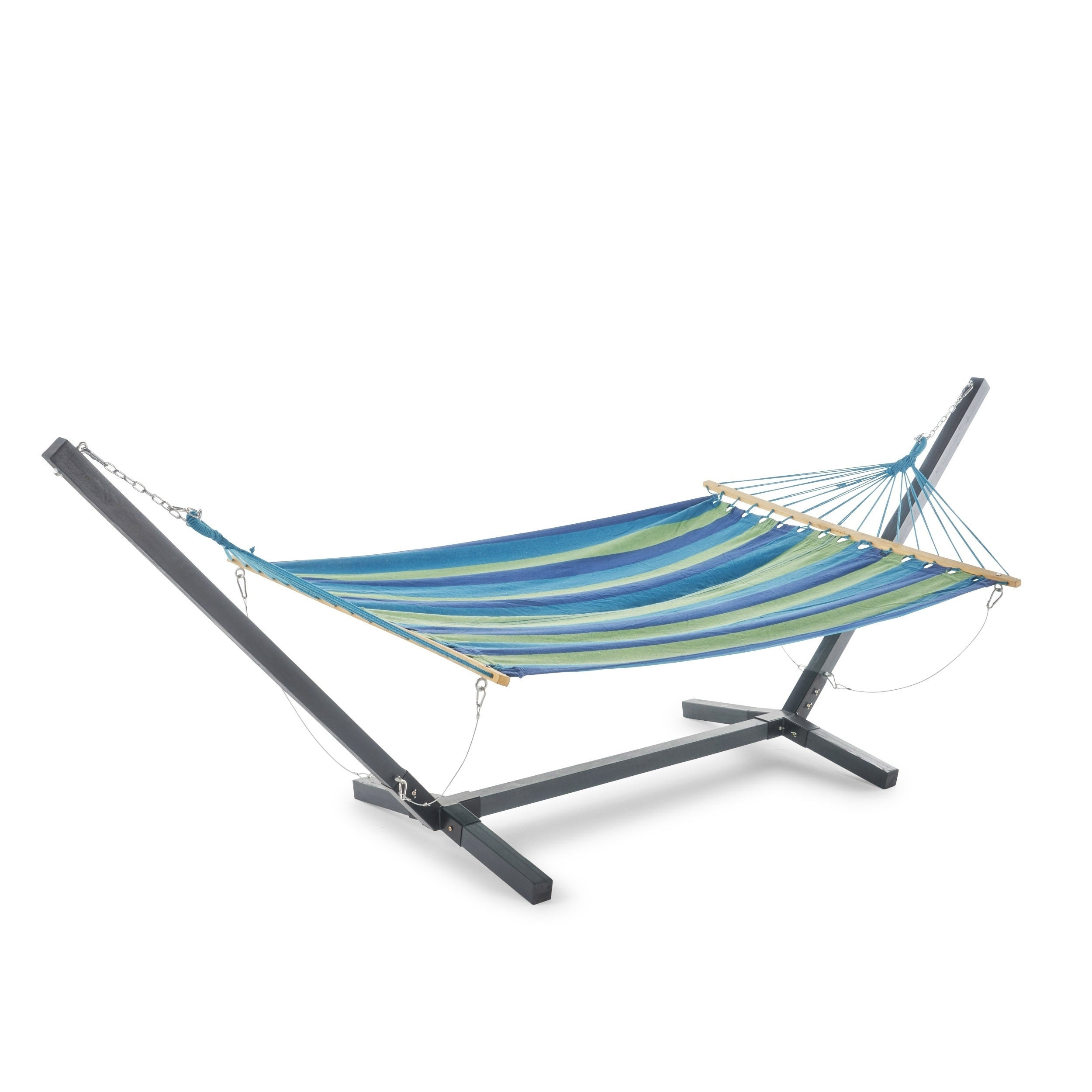 Swell Aspen Outdoor Water Resistant Hammock With Grey Larch Wood Frame By Christopher Knight Home N A Gmtry Best Dining Table And Chair Ideas Images Gmtryco