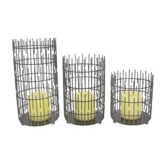 Clay Alder Home Mendota Metal Wire Candle Holder Set of 3, 6 inches, 8 inches, 10 inches high