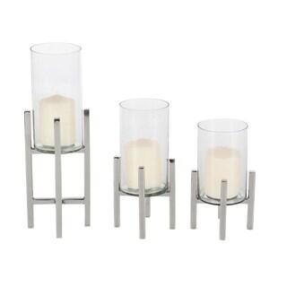 Oliver & James Buri Glass Candle Holders (Set of 3)