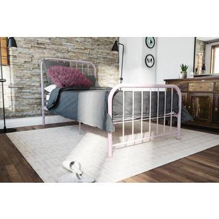 Novogratz Bellamy Pink Metal Bed