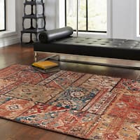 "Mohawk Aegean Gemma Multicolored Patchwork Area Rug - 6'6"" x 9'9"""