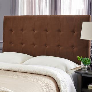 Humble + Haute Stanford Suede Chocolate Brown Upholstered Headboard|https://ak1.ostkcdn.com/images/products/17291775/P23541554.jpg?impolicy=medium