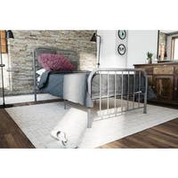 Novogratz Bellamy Metal Grey Bed