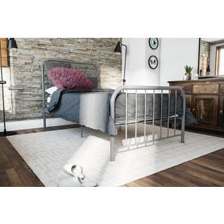 Novogratz Bellamy Grey Metal Bed