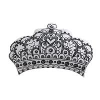 Laura Hart Kids Unicorn Princess Printed Crown Decorative Pillow