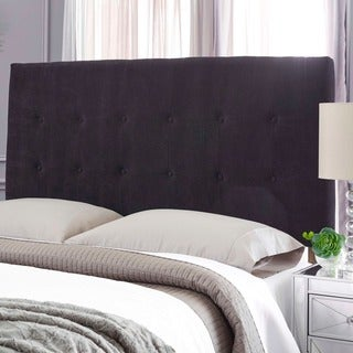 Humble + Haute Stanford Suede Black Upholstered Headboard