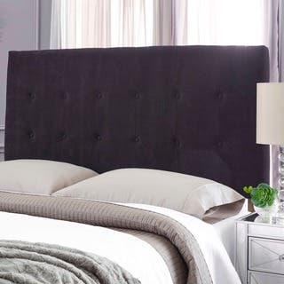 Humble + Haute Stanford Suede Black Upholstered Headboard|https://ak1.ostkcdn.com/images/products/17291785/P23541570.jpg?impolicy=medium