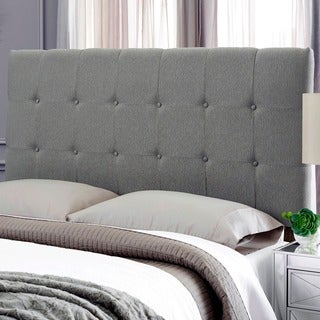 Humble + Haute Stanford Grey Textured Upholstered Headboard