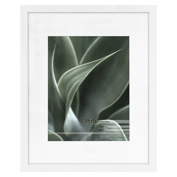 Shop Modern White 16x20 Picture Frame Matted For 11x14 Photo Free