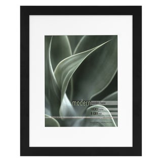 Modern Black 11x14 Picture Frame matted for 8x10 Photo