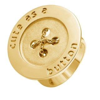 White Trash Charms Cute as a Button Ring