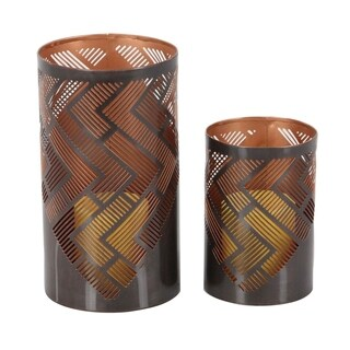 Clay Alder Home MendotaMetal Candle Holder Set of 2, 6 inches, 9 inches high