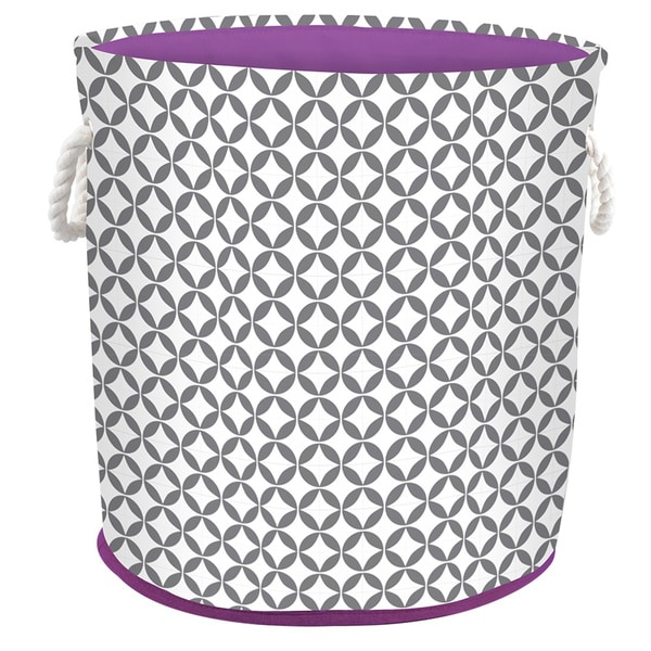 Shop Round Hamper Tote With Rope Handles Heather Grey