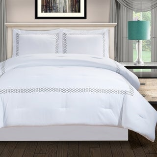 Link to Miranda Haus Layla Down Alternative Embroidered Comforter Set Similar Items in Comforter Sets