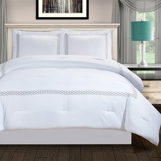 Superior Layla All Season Down Alternative Embroidered Comforter Set