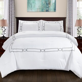 Superior Kensington All Season Down Alternative Embroidered Comforter Set