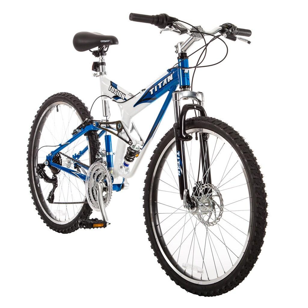 Titan Fusion Dual Suspension Mountain Bicycle, 21-Speeds ...