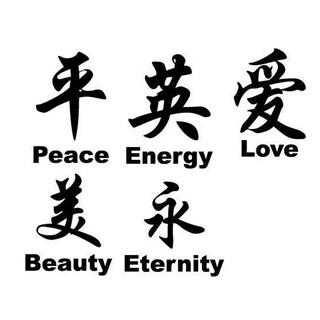 Decal Wall Art Chinese Symbol