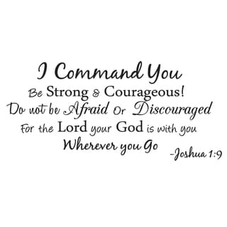 I Command You Vinyl Quote Wall Decal Joshua 1:9 God Scripture Bible Word