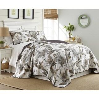 Taihiti Cotton 3 Piece Printed Quilt Set