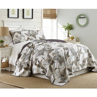 Taihiti Cotton 3 Piece Printed Quilt Set (3 options available)