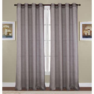 Rt Designers Collection Sparkle Woven Lurex 90 Inch Grommet Curtain Panel