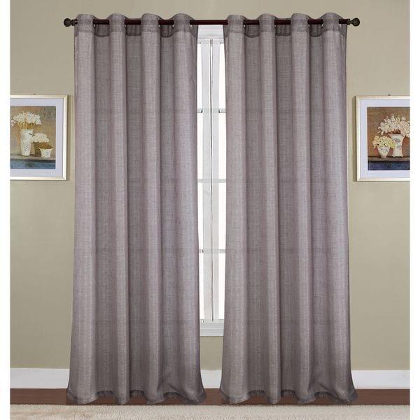 Shop Sparkle Woven Lurex 90 Inch Grommet Curtain Panel