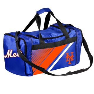 New York Mets MLB Border Stripe Duffle Bag