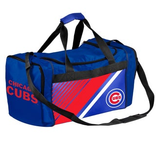 Chicago Cubs MLB Border Stripe Duffle Bag